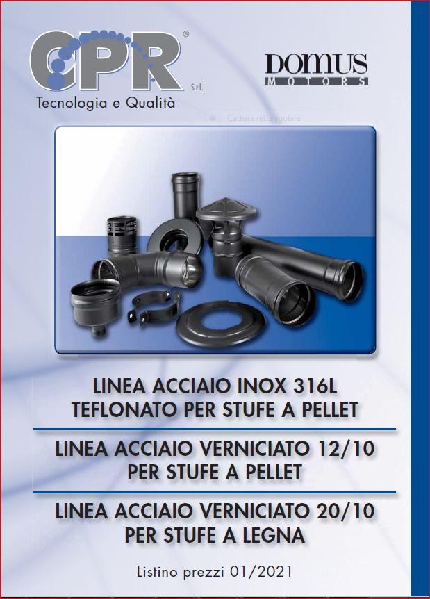 Linea acciaio inox 316L teflonato per stufe a legna e Linea acciaio verniciato per stufe a legna 01/2021