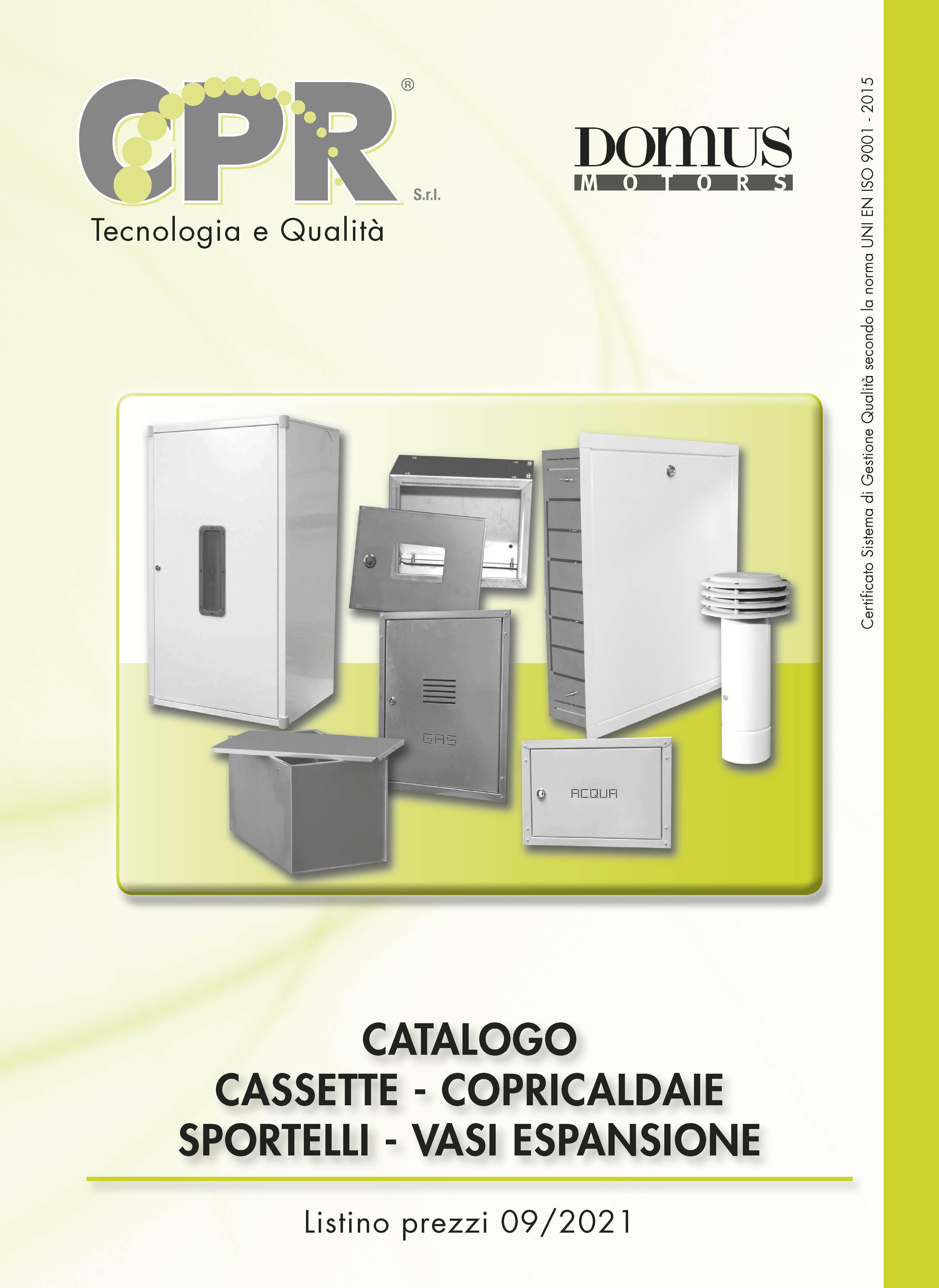 Cassette - copricaldaie - sportelli - vasi espansione 09/2021