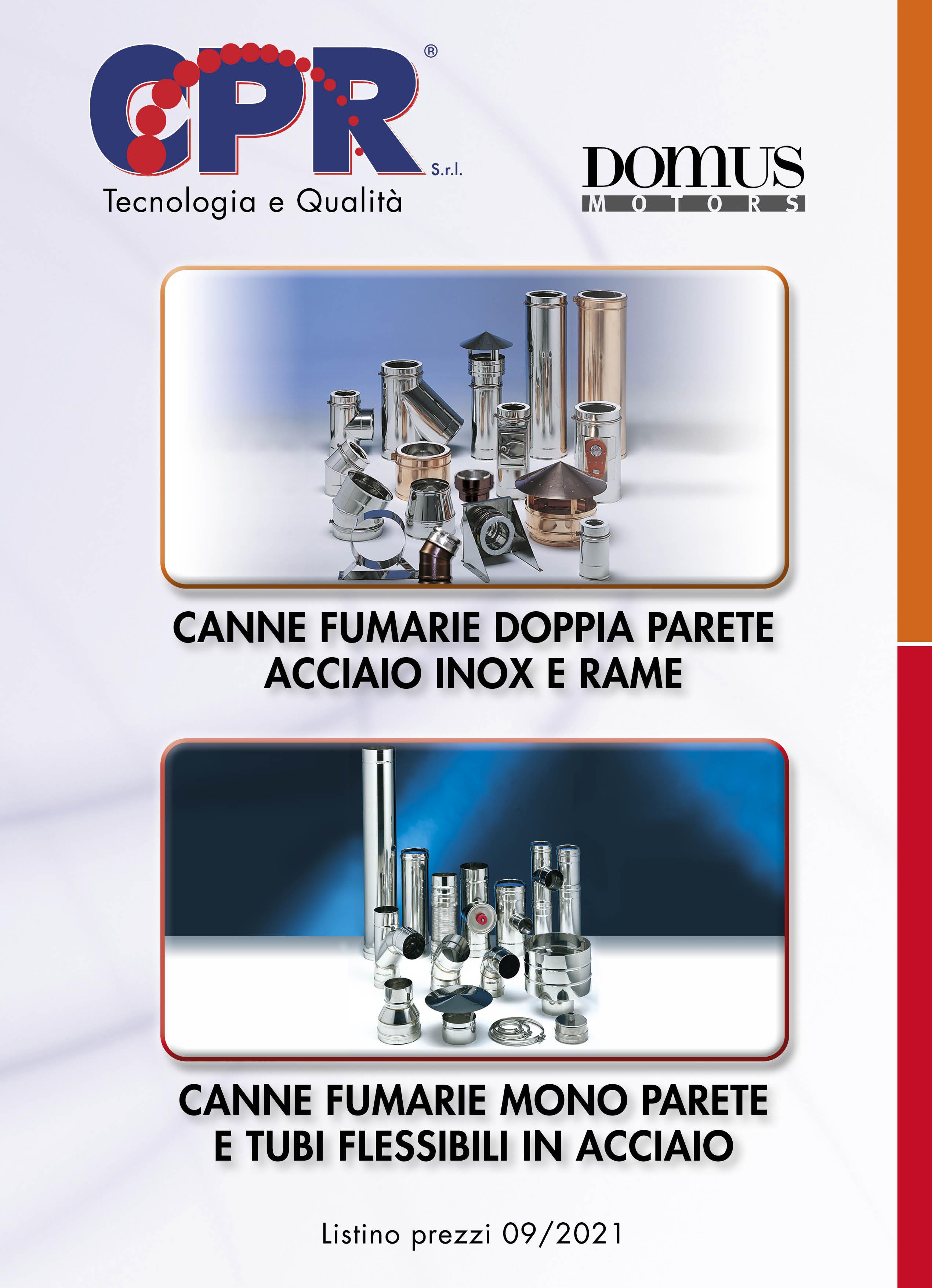 Canne fumarie a mono e doppia parete e tubi flessibili in acciaio 09/2021